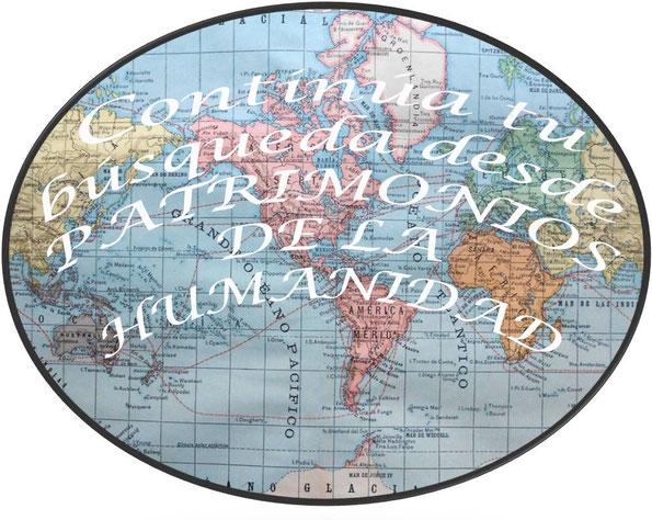 """Enlaza desde este planisferio con la siguiente carpeta """"YoEstuveAllí: Patrimonios de la UNESCO"""""""