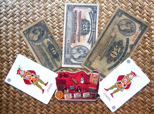 Serie de billetes 10, 25 y 50 centavos de córdoba Nicaragua años 1912-1938