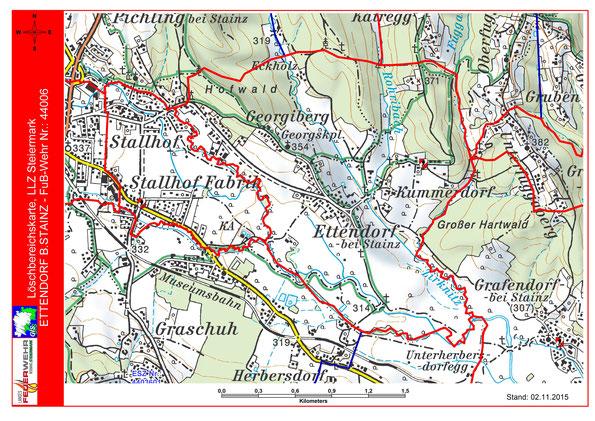 Löschbereich der FF Ettendorf