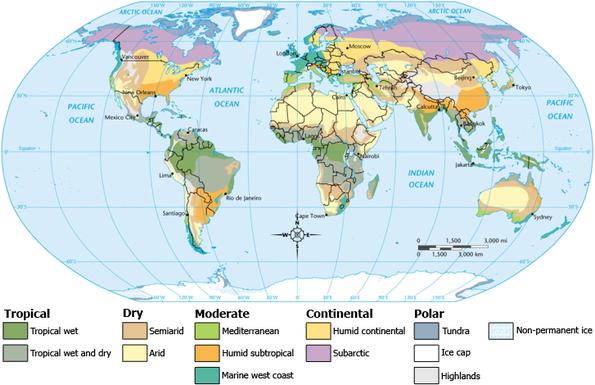 Klimazonen der Erde. Q: Wikipedia.