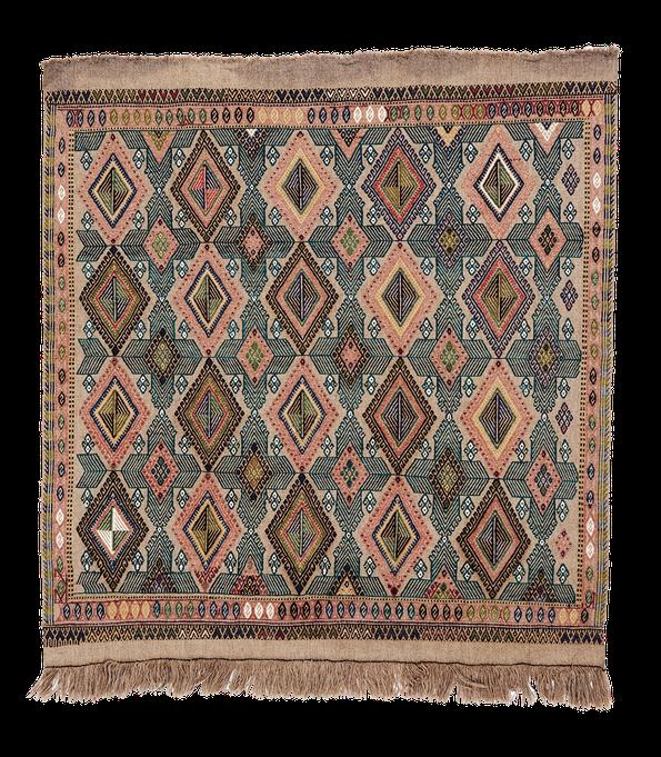 Teppich. Zürich. Cicim, Obruk embroidered Kilim. Handgewebter Teppich, Kelim aus Turkey.