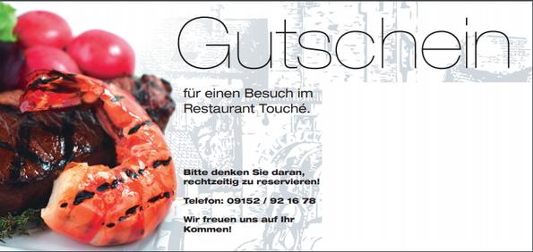 Gutscheine sind im Restaurant Touché auf Burg Hartenstein erhältlich.