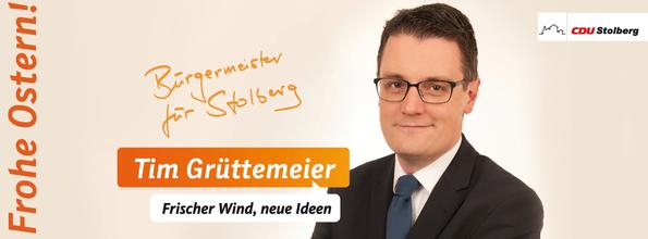 Die CDU Stolberg und ich als Ihr Bürgermeisterkandidat wünschen Ihnen ein frohes Osterfest und erholsame Ostertage!