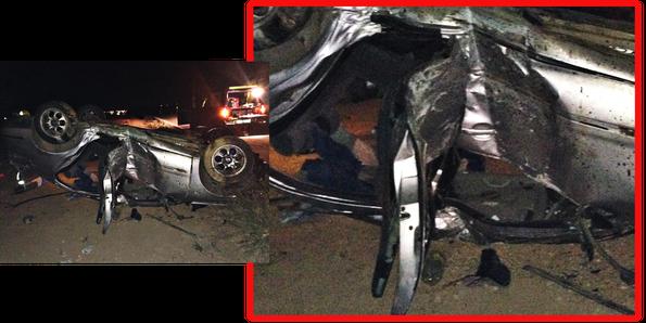 vehiculo coche turismo accidente pulpi bomberos levante almeriense