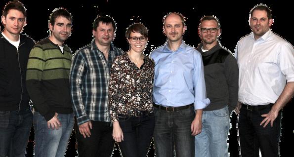v.l.n.r.: Felix Murr, Uli Bär, Bernd Rupprecht, Sonja Neukam, Martin Wolf, Manfred Götz, Andreas Kiener