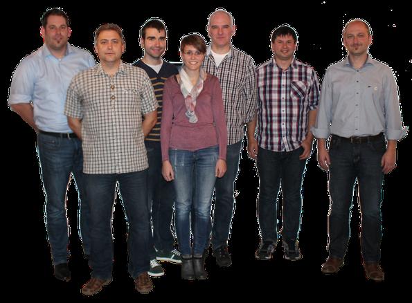v.l.n.r.: Kiener Andreas, Elstner Alexander, Bär Uli, Neukam Sonja, Fuchs Markus, Rupprecht Bernd, Wolf Martin