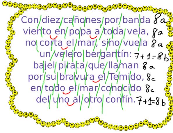 Análisis métrico de la Canción del pirata de Espronceda.