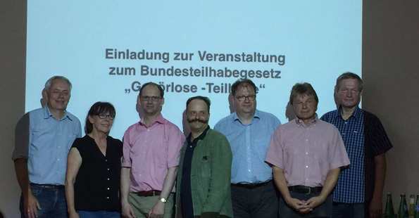 Stehend links G.Ise, D.Wareka, Prof.Welti, Dr. Weber, H. Vogel, A. Ruda und D. Tschirner