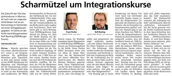 Scharmützle um Integrationskurse