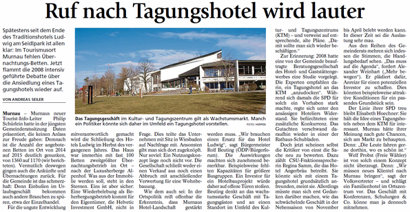 Murnauer Tagblatt vom 12.02.2106