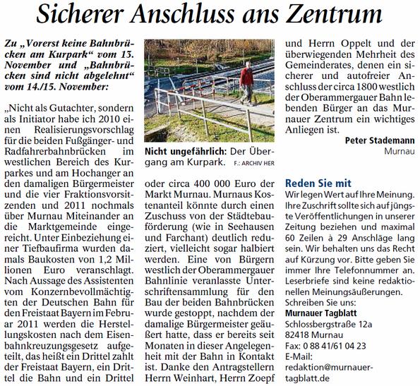 Leserbrief Murnauer Tagblatt 19.11.2015