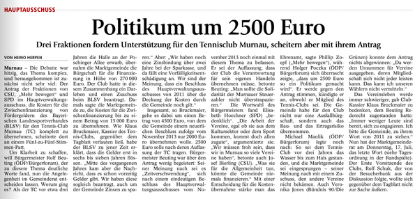 Murnauer Tagblatt 15.07.2014