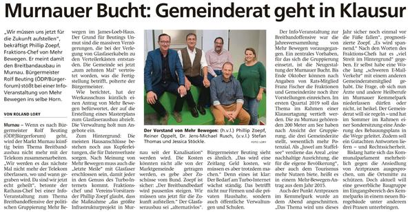 Murnauer Bucht: Gemeinderat geht in Klausur