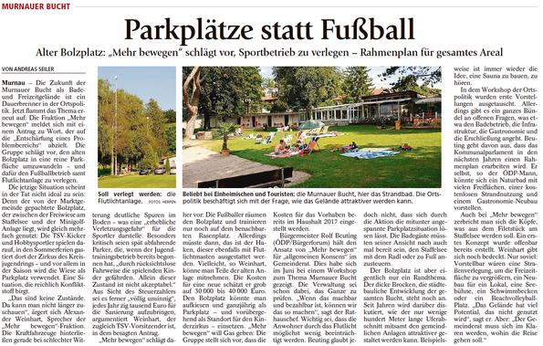 """Parkplätze statt Fußball - Alter Bolzplatz: """"Mehr bewegen"""" schlägt vor, Sportbetrieb zu verlegen - Rahmenplan für gesamtes Areal"""