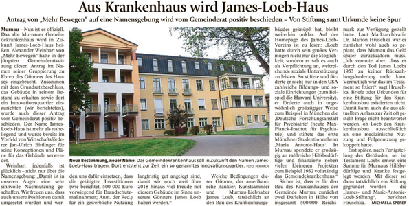 Aus Krankenhaus wird James-Loeb-Haus