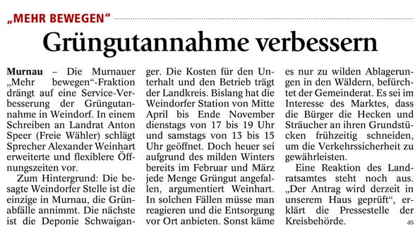 Murnauer Tagblatt 13.07.2014