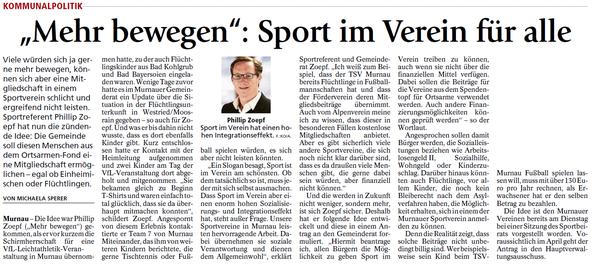 """""""Mehr bewegen"""": Sport im Verein für alle"""