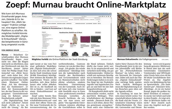 Zoepf: Murnau braucht Online-Marktplatz