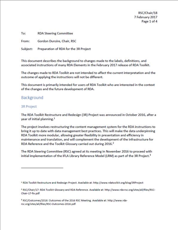 Hintergrunddokument zu den Änderungen (RSC/Chair/18)