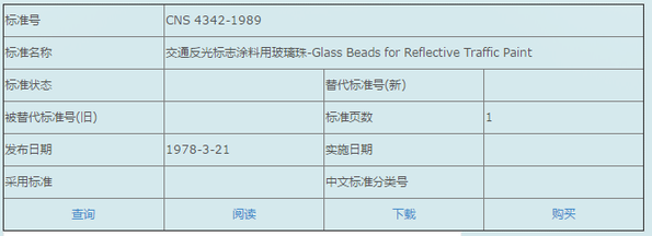 CNS 4342-1989 Glass Beads for Reflective Trafffic Paint