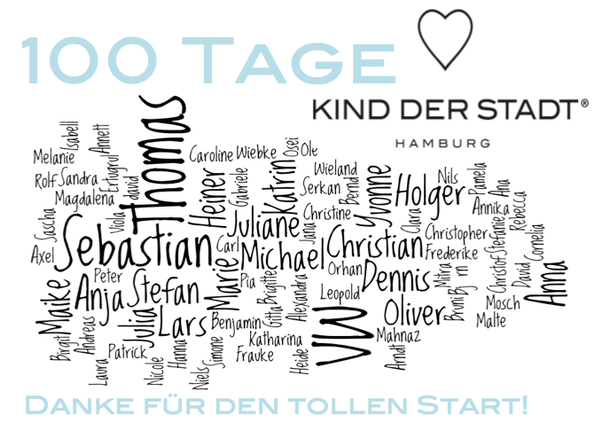 """100 Tage KIND DER STADT! Wir sagen """"DANKE"""" für einen tollen Start!"""