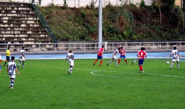 Imagen de la última visita del Sanse a Ellakuri. Fue en la temporada 2009/10 y el partido terminó 1-1.