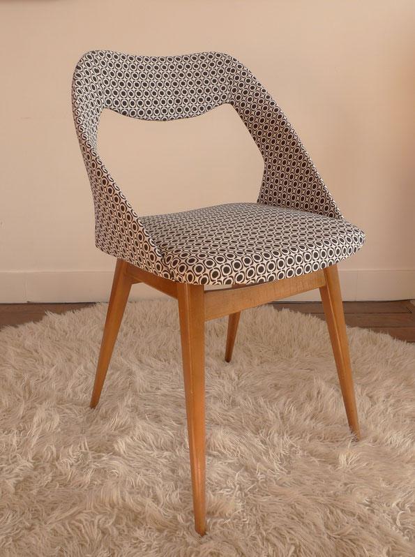 JOLI, chaise Guariche, chaise tonneau, chaise vintage, chaise Louis Paolozzi