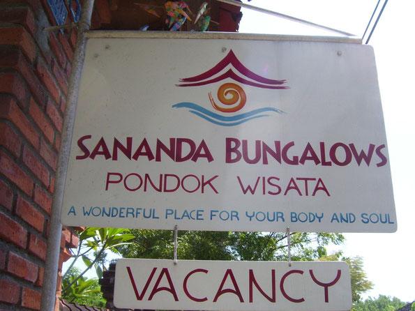 Schild vor dem Resort