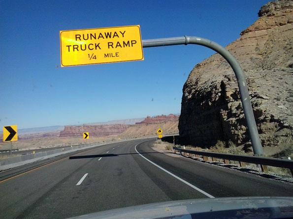 Bild: Old Truck, HDW-USA, Roadtrip, Mister T. und der Weiße Büffel, Runaway Truck Ramp,