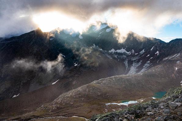 Ein faszinierendes Lichter- und Wolkenspiel.