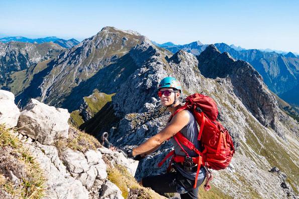 Wild und frech und wunderbar - der Hindelanger Klettersteig