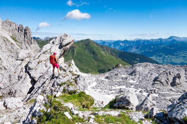 Der Blick vom Drusentor hinüber auf die österreichische Seite, von der wir auch kamen.