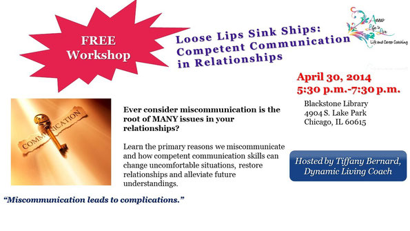 Loose Lips Sink Ships: Competent Communication in Relationships Flyer