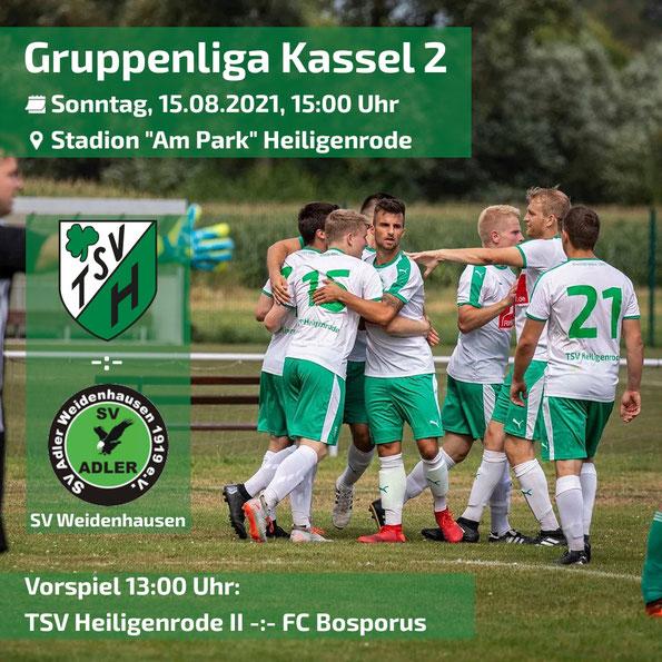 Gruppenliga Kassel TSV Heiligenrode SV Adler Weidenhausen Fussball