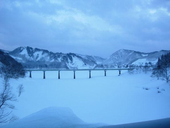 真冬の北上線