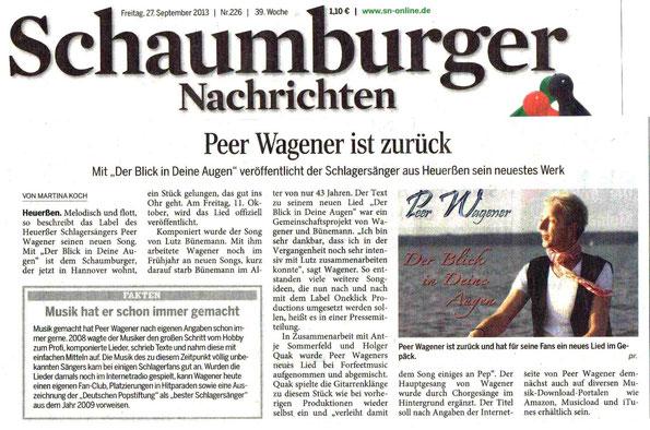 Zeitungsartikel aus den SN vom 27. September 2013