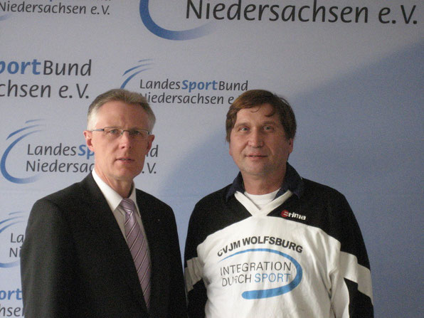 von links: Reinhard Rawe und Manfred Wille