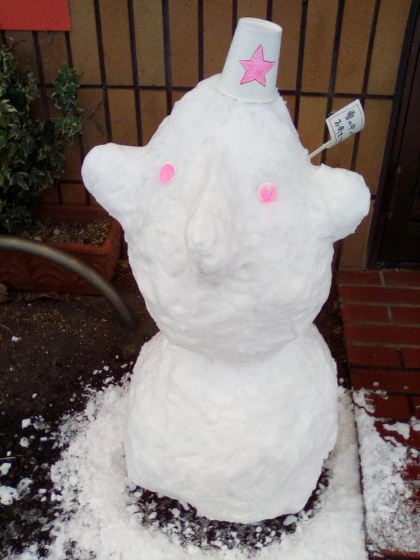 北九州市小倉北区上富野雪だるま