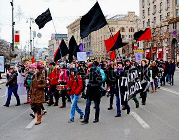 Feministisk 8. marts demonstration i Kiev