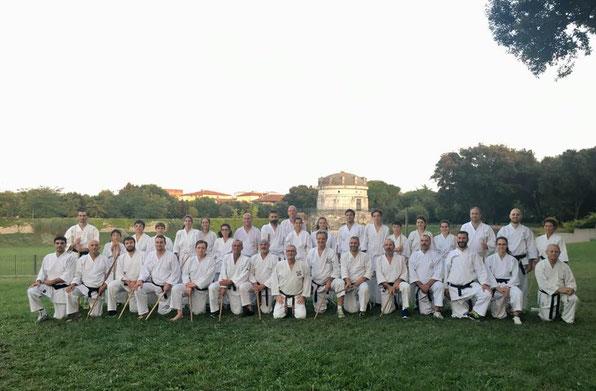 Ravenna, Parco Teodorico: foto di gruppo dei partecipanti alla sessione di sabato pomeriggio.