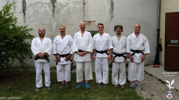 Bertiolo (Ud), 14/7/2018: foto di gruppo al termine del Ronin Club Keiko.