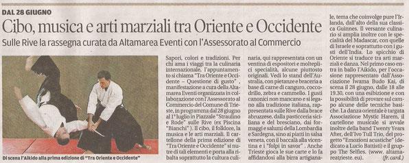 """""""Il Piccolo"""", quotidiano di Trieste, 23 giugno 2018."""