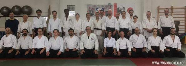 Foto di gruppo dei partecipanti alla sessione di sabato mattina del koshukai.