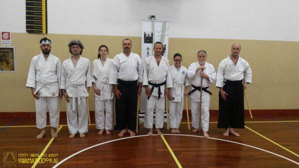 I partecipanti al keiko ritratti al termine della pratica.