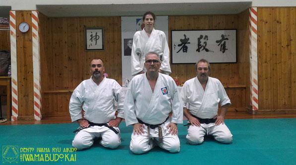 I partecipanti dell'Aiki Shuren Dojo Trieste assieme ad Alessandro Tittarelli Shihan.