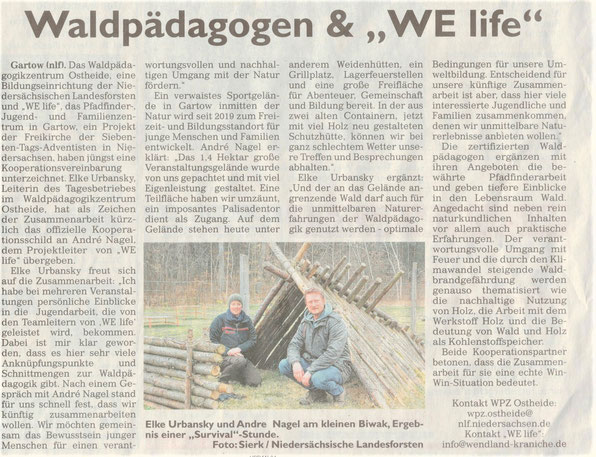 General-Anzeiger, Ausgabe 10./11.4.2021, Waldpädagogen & WE life
