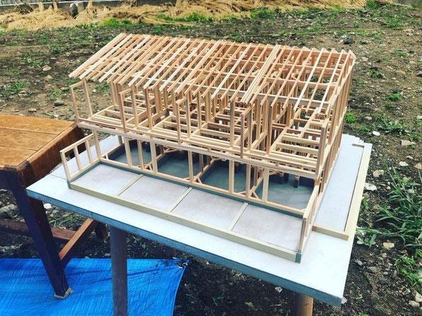 軸組模型 手刻み 木造長屋 新築手刻み 木造 長屋 新築 住宅 大田区 田園調布 賃貸 アパート