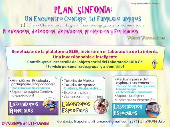 Plan Sinfonía. Contribuyes con el desarrollo del objeto social principal del Laboratorio LIRA Ph