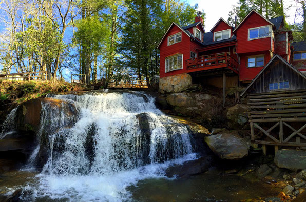 Balsam Grove, NC; Living Waters Ministry: Mill Shoals Falls