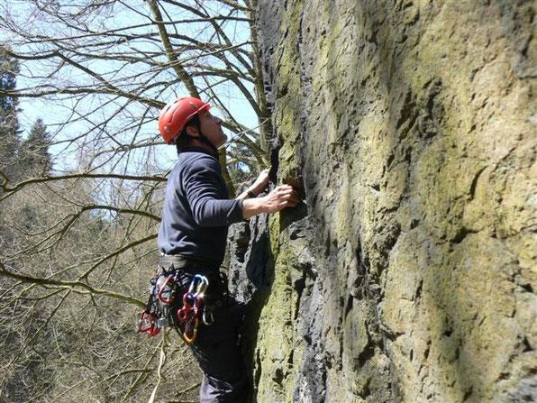 Fortgeschrittenenkurs Felsklettern im Steinicht